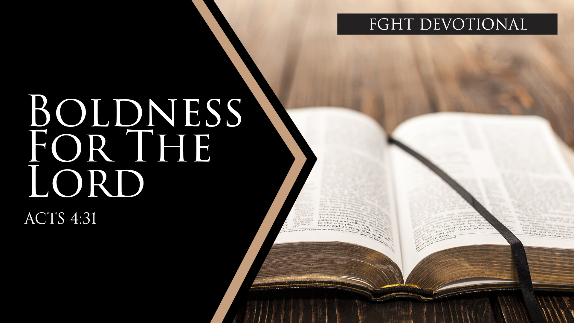 Boldness for the Lord